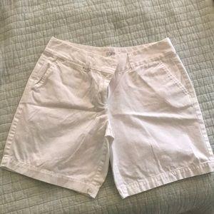Loft white shorts